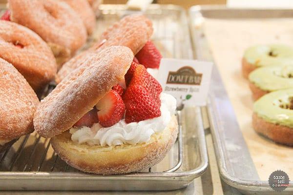 Strawberry Split Donut from The Donut Bar