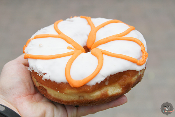 Peaches n Cream Donut from the Donut Bar in San Diego, CA