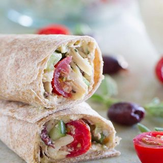 Perfect for a quick lunch or an easy dinner, this Greek Chicken Wrap is full of flavor and low in calories!