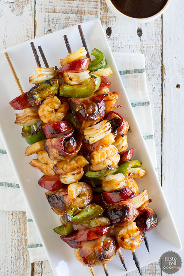 How to make Grilled Shrimp and Sausage Kabobs