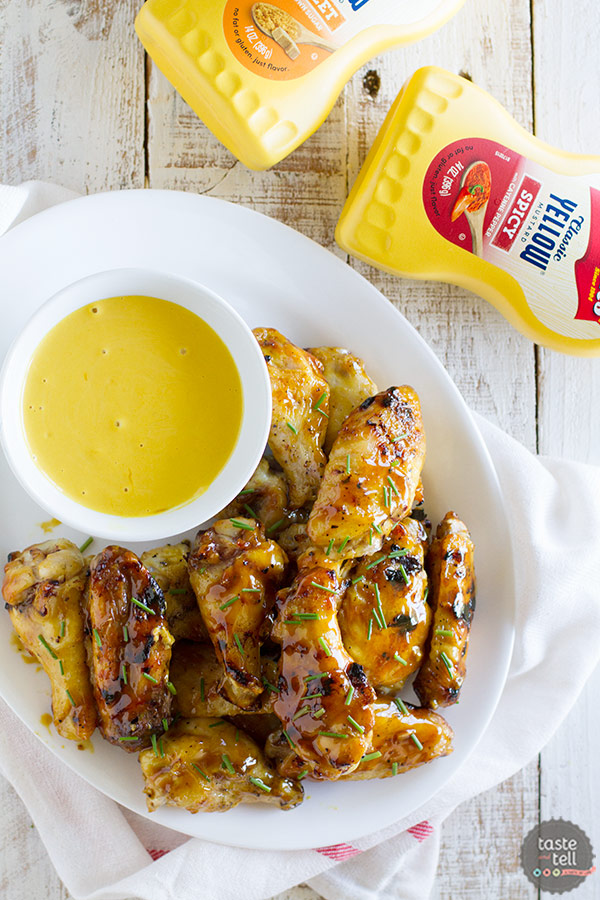 A little bit sweet, a little bit spicy - these Maple Mustard Grilled Chicken Wings will be the star of your backyard bbq!
