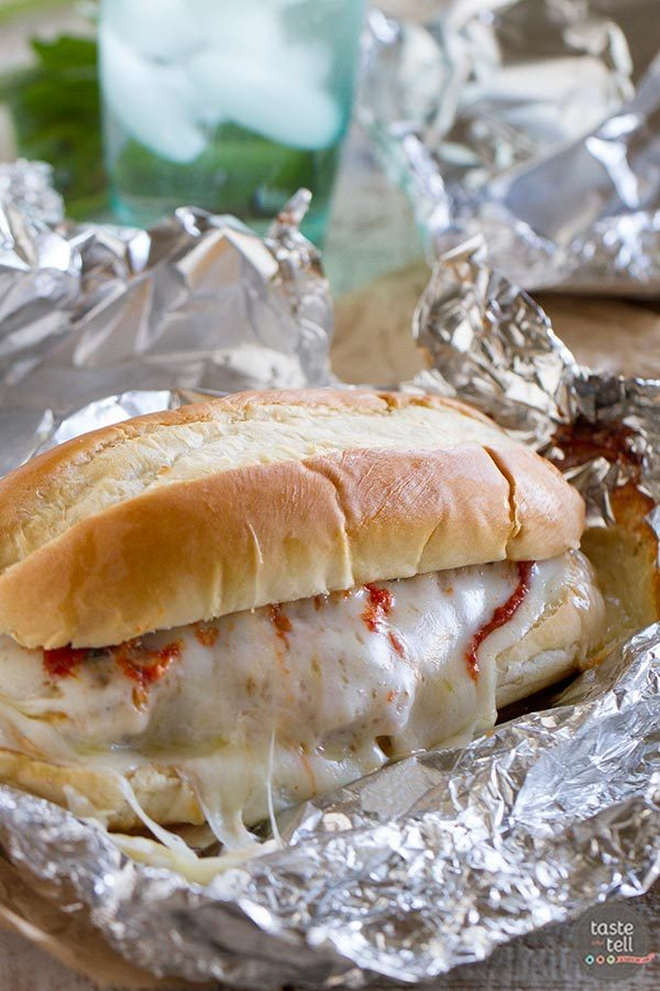Oven Baked Chicken Parmesan Sandwiches