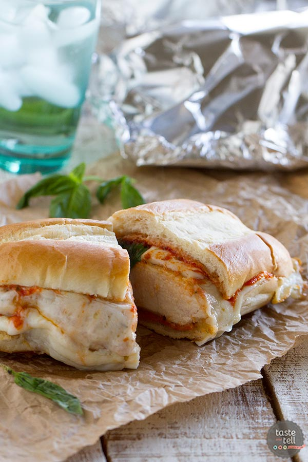 Oven Baked Chicken Parmesan Sandwiches recipe