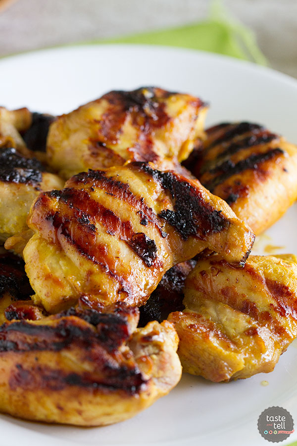 Grilled Brown Sugar Mustard Chicken - dinner on the table in 20 minutes!