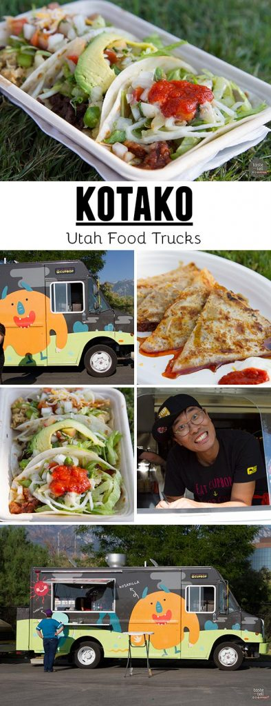 Kotako - a Utah Food Truck serving up a Mexican-Asian fusion menu with tacos, burritos and quesadillas.
