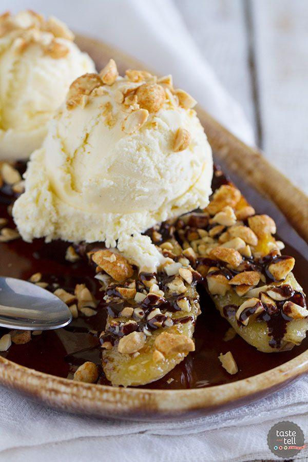Pan Fried Banana Split Recipe   The Summer Table Review