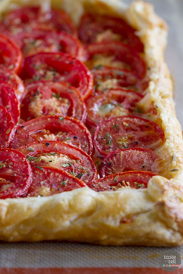 Tomato Tart with Bacon and Gruyere