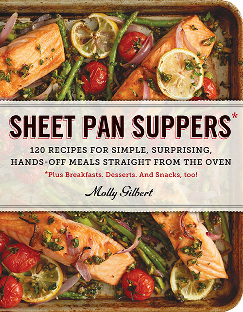 A review of Sheet Pan Suppers by Molly Gilbert, plus a recipe for Balsamic Shrimp with Summer Vegetables.