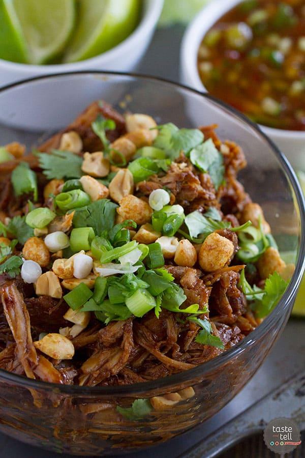 Recipe for BBQ Pork Lettuce Cups
