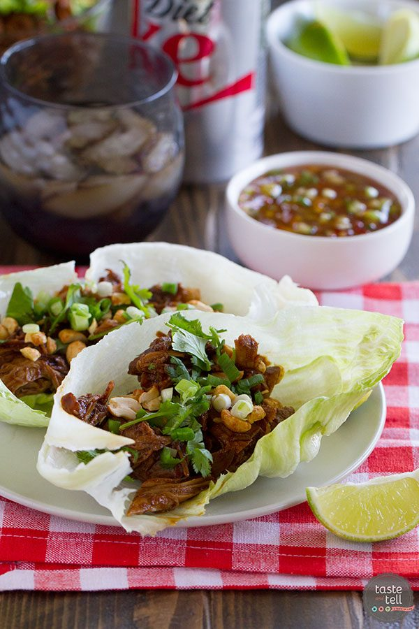 BBQ Pork Lettuce Cups | Eating Up the West Coast Review