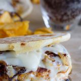 With patties made from ground chicken and chorizo, plus melty Swiss cheese and caramelized onions, these Chicken and Chorizo Patty Melts are sure to be a hit!