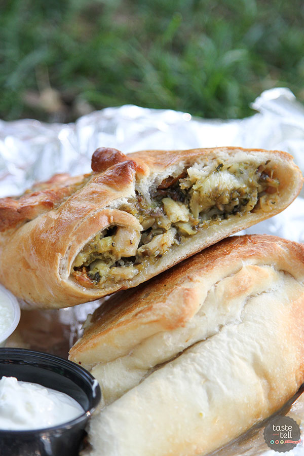 Mama Zs - a Utah food truck serving gourmet calzones with creative fillings.