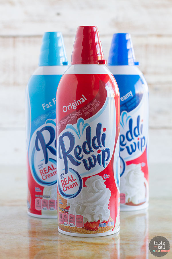 Reddi wip - perfect for this Pumpkin Pie Cake!