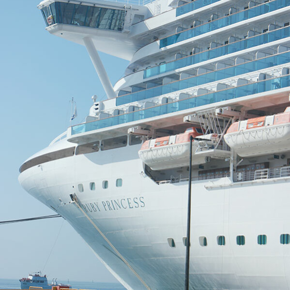 A look at the Ruby Princess - on of the Princess Cruises ships.