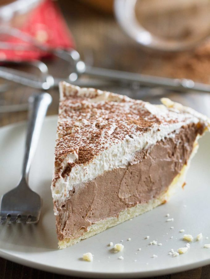 Slice of Chocolate Cream Pie
