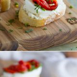 Perfect for holiday entertaining and beyond, this Egg and Pepper Crostini Recipe is a cinch to put together and full of flavor. It will be the unexpected hit!