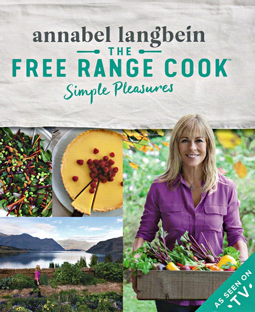 A review of Free Range Cook Simple Pleasures, plus a Cinnamon Apple Fritter Recipe.