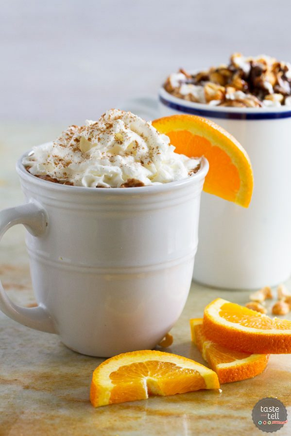 Perfect for a cold night, this easy gourmet hot chocolate is easily customizable. The featured Spiced Orange Hot Chocolate and Peanut Butter Caramel Hot Chocolate are a hit for kids and adults!