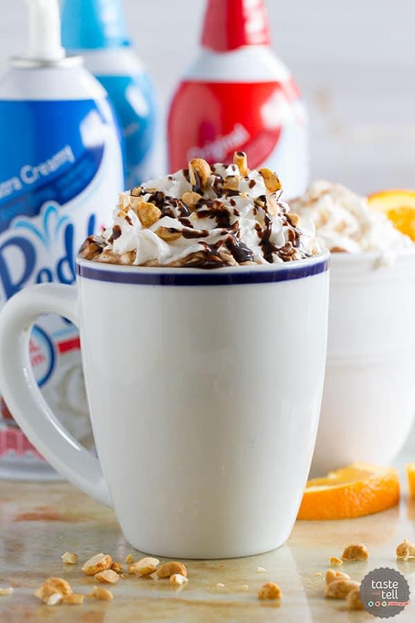 Peanut Butter Caramel Hot Chocolate - Gourmet Hot Chocolate 2 Ways!
