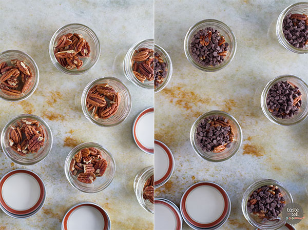Mini Chocolate Pecan Pie in a Jar Recipe on Taste and Tell