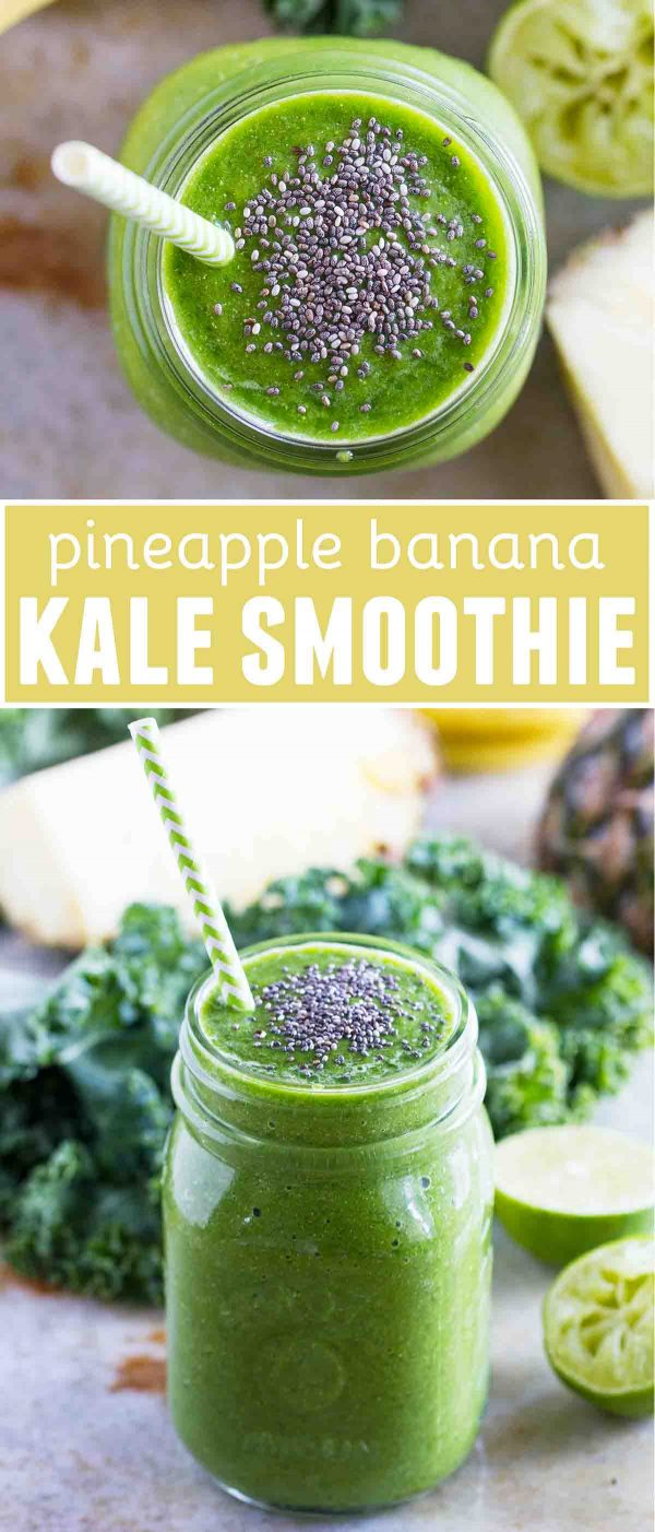 Pineapple Banana Kale Smoothie Recipe