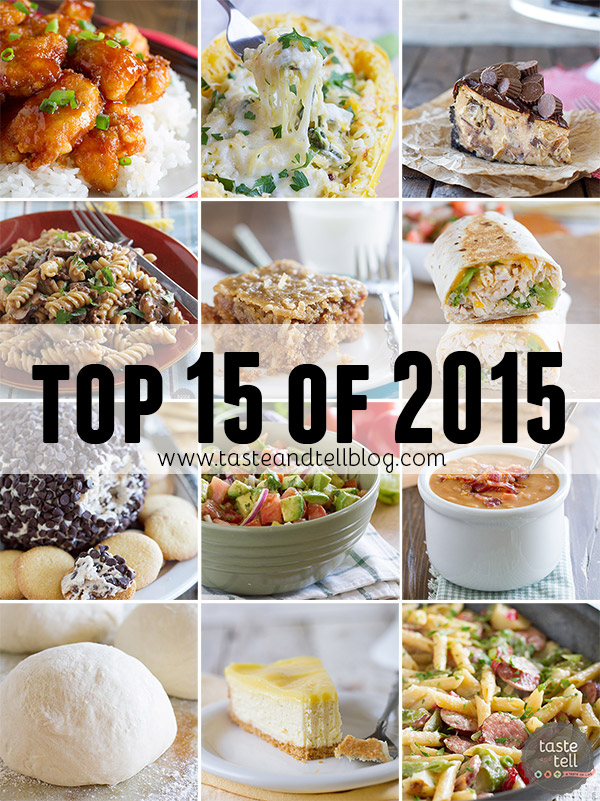 The top 15 visited posts in 2015 on Taste and Tell. Did your favorites make the list?