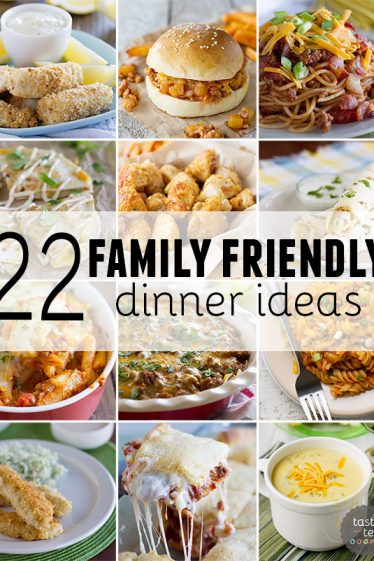 22 Family Friendly Dinner Ideas to make menu planning a breeze! These recipes are kid AND adult approved!