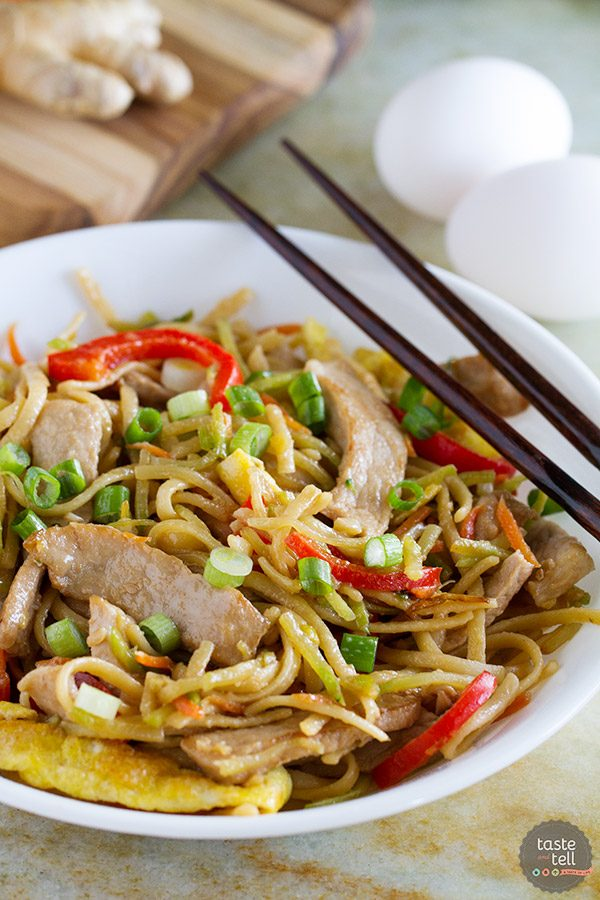 Egg and Pork Lo Mein