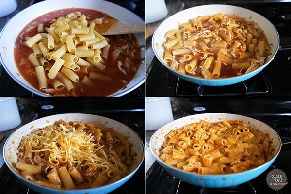 How to make One Pan Enchilada Pasta