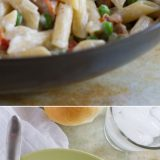 You can't beat a one pan dinner that is one the table in no time! This One Pan Pasta with Peas and Bacon is easy and flavorful and a pasta dinner that is sure to go on repeat in our house!