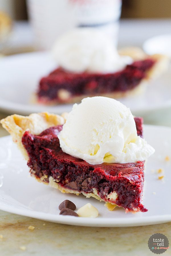 Red Velvet Cookie Pie