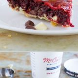 Can't decide between a pie or a cookie? Get the best of both worlds with this Red Velvet Cookie Pie. This is the perfect holiday pie!