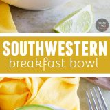 Start your morning with this breakfast bowl to top all breakfast bowls! Filling and full of flavor, this Southwestern Breakfast Bowl is the perfect breakfast.