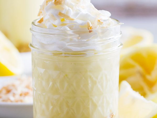 Sweet and creamy, these Coconut Lemon Pudding Parfaits are perfect for sharing with friends and family. And the pudding is super easy and made from scratch!
