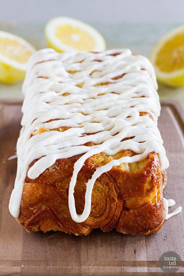 Lemon Roll Pull-Apart Bread