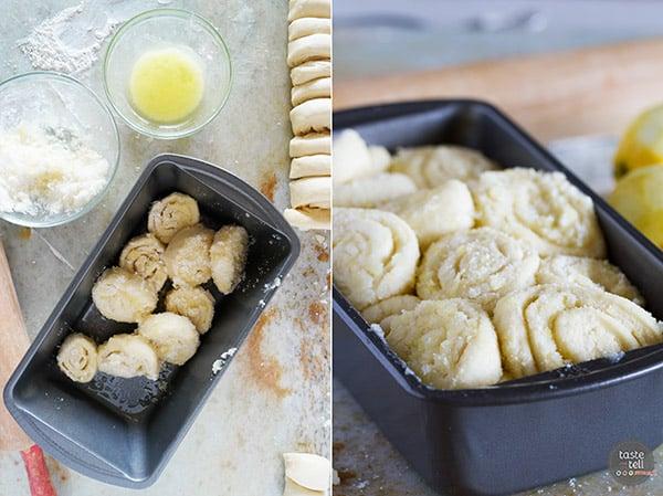 How to make Lemon Roll Pull-Apart Bread.