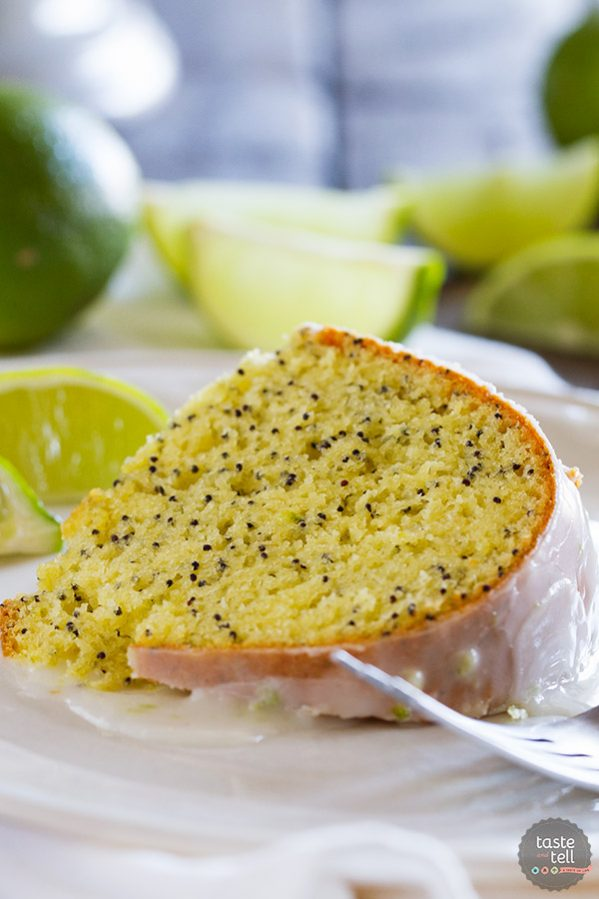 Sweet and tart and perfectly moist, this Lime Poppy Seed Cake is not only easy, but so good that everyone will want seconds!