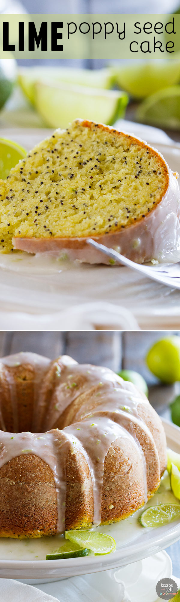 Lime Poppy Seed Bundt Cake