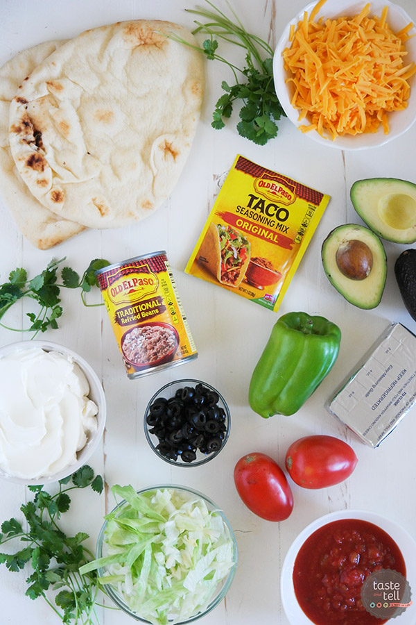 Ingredients for 7 Layer Flatbread Recipe