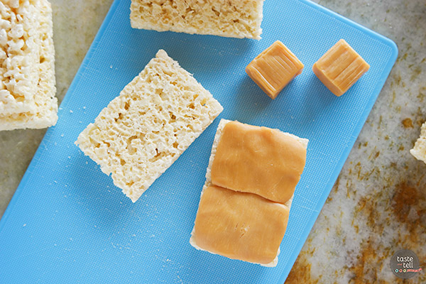 How to make Caramel Filled RIce Krispies Treats