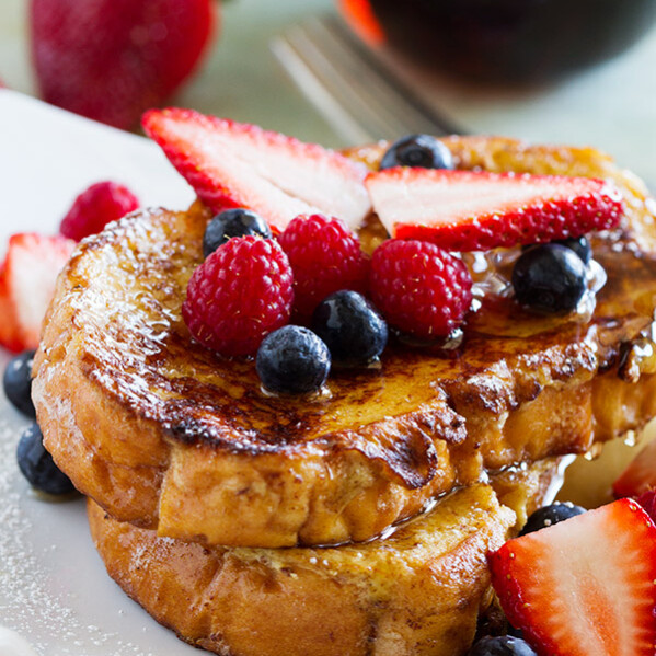 You will never want to eat normal French toast again after trying this Ice Cream Soaked French Toast!! Melted ice cream is the secret ingredient that makes this French toast recipe out of this world.