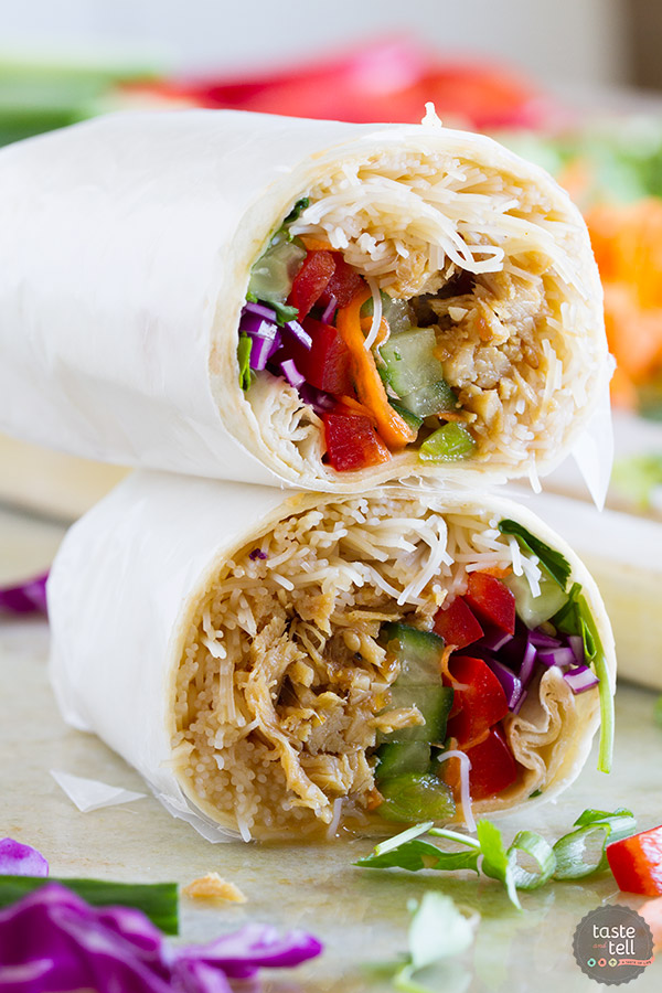 Dinner doesn't get easier than these Easy Chicken Teriyaki Wraps! Conquer those busy nights with an easy, good for you weeknight dinner that is done in no time flat.