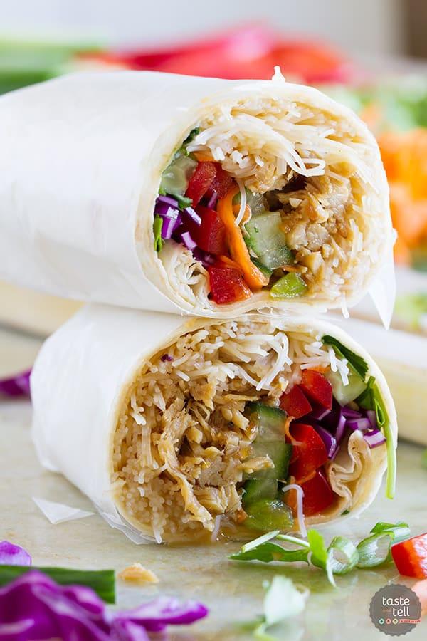 Easy Chicken Teriyaki Wraps Taste And Tell