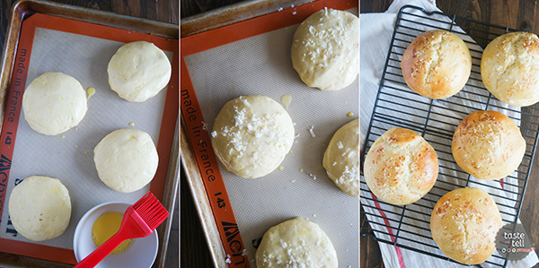How to make Garlic Parmesan Brioche Buns.