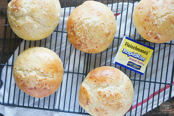 Take your burger to the next level with these Garlic Parmesan Brioche Buns. Rich, buttery brioche hamburger buns are filled with garlic and parmesan, turning your ordinary burger night into something special.