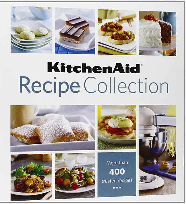 Review of the KitchenAid Recipe Collection, plus a recipe for a Brie Burger with Sun-Dried Tomato and Artichoke Spread.