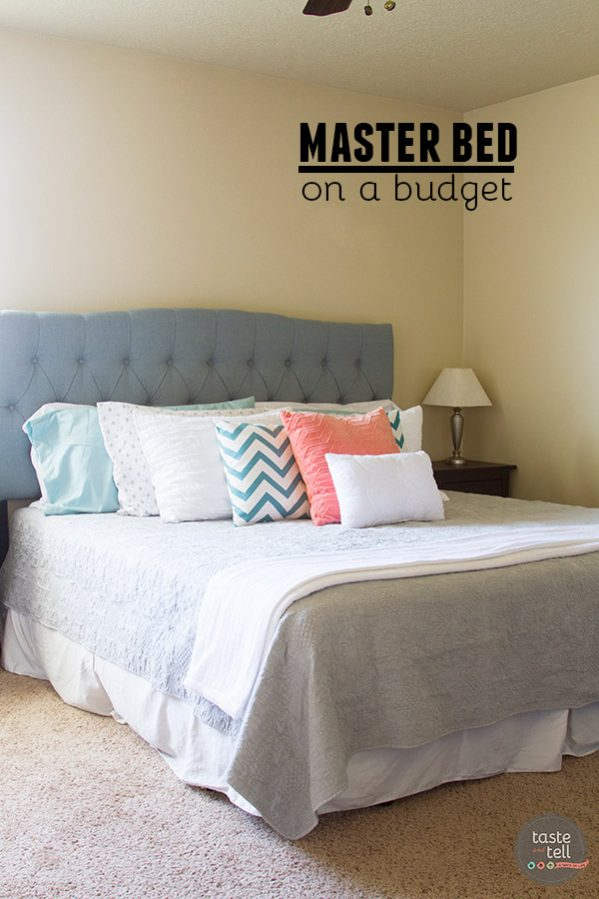 It's possible to do a whole master bed on a budget!