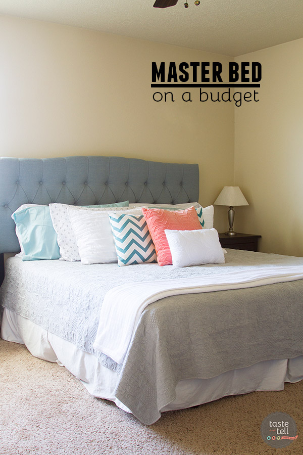 It is possible to do a whole master bed on a budget!