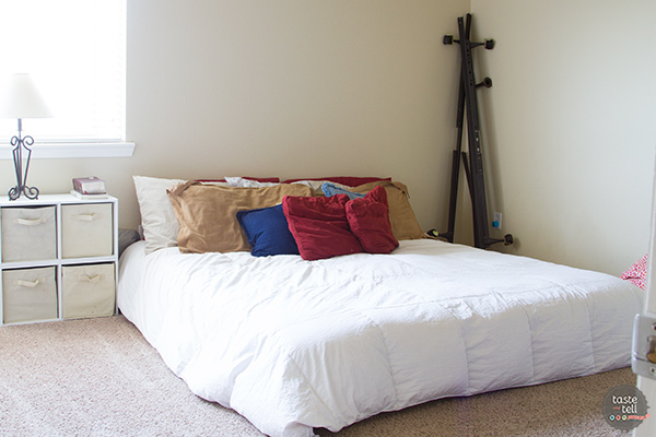 Before - master bed on a budget