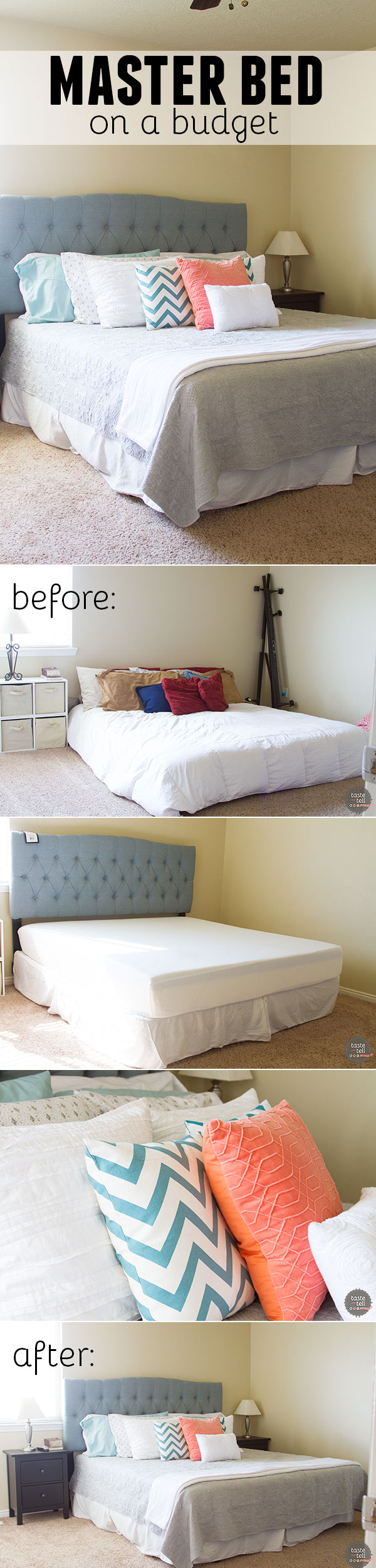 It is possible to do a full master bed on a budget!